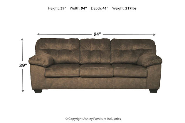 Accrington Queen Sofa Sleeper, Earth, large