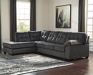 Accrington 2-Piece Sectional with Chaise and Sleeper ...