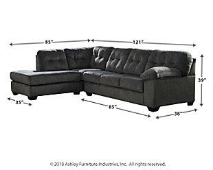 Accrington 2 Piece Sectional With Chaise And Sleeper Ashley