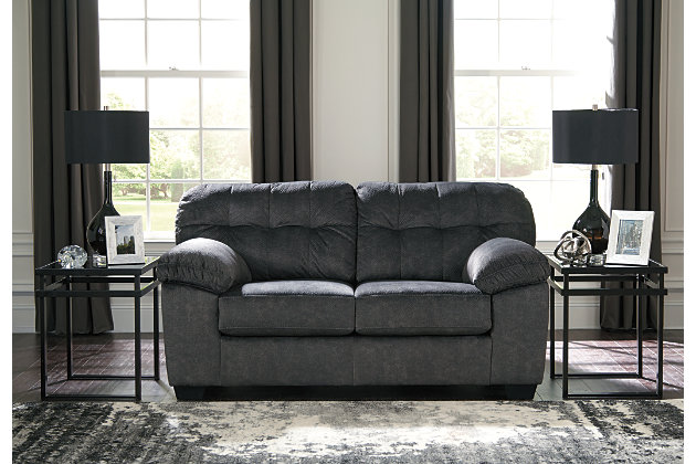 Accrington Sofa and Loveseat, Granite, large