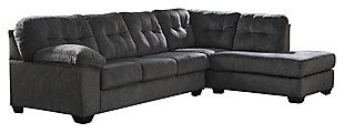 Accrington 2-Piece Sectional with Chaise and Sleeper, Granite, large