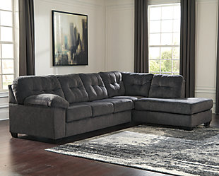 Accrington 2-Piece Sleeper Sectional with Chaise, Granite, large