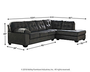 Accrington 2 Piece Sectional With Chaise And Sleeper Ashley Homestore