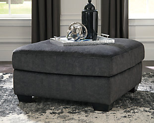 Accrington Oversized Ottoman, Granite, large