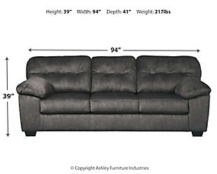 Accrington Queen Sofa Sleeper, Granite, large