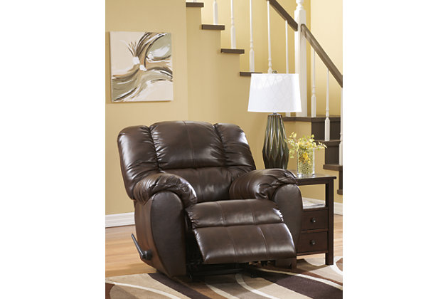 plush padded arms and bustle back creates an ultra comfortable dark brown leather reclining chair  sc 1 st  Ashley Furniture HomeStore & Dylan DuraBlend® Recliner | Ashley Furniture HomeStore islam-shia.org