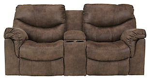 Alzena Reclining Loveseat with Console, , large