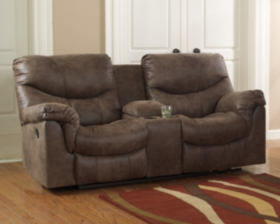 Alzena Power Reclining Loveseat with Console by Ashley Ho...