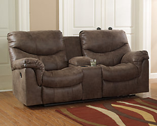Alzena Reclining Loveseat with Console, , rollover