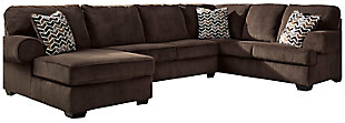 Jinllingsly 3-Piece Sectional, Chocolate, large