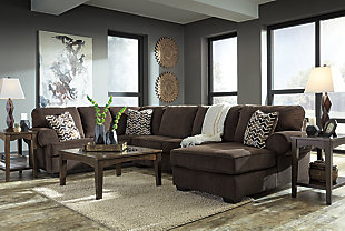 Jinllingsly 3-Piece Sectional with Chaise, Chocolate, large