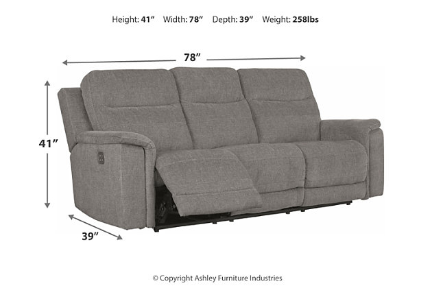 Mouttrie Power Reclining Loveseat with Console, , large