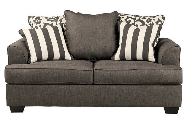 Charcoal Living Room Furniture Product Shown On A White Background