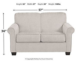 Cansler Twin Sofa Sleeper, Pebble, large
