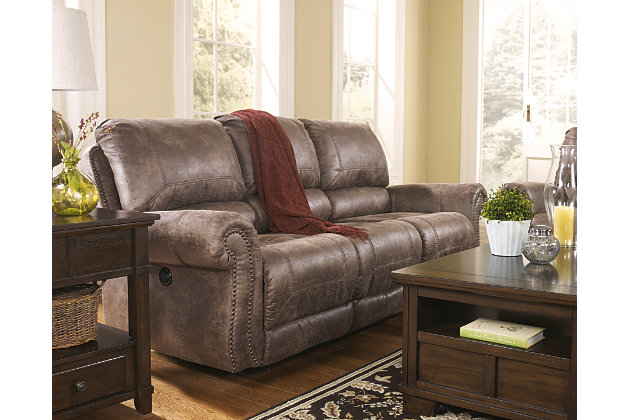 oberson power reclining sofa ashley furniture homestore