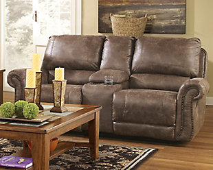 Oberson Power Reclining Loveseat with Console, , rollover