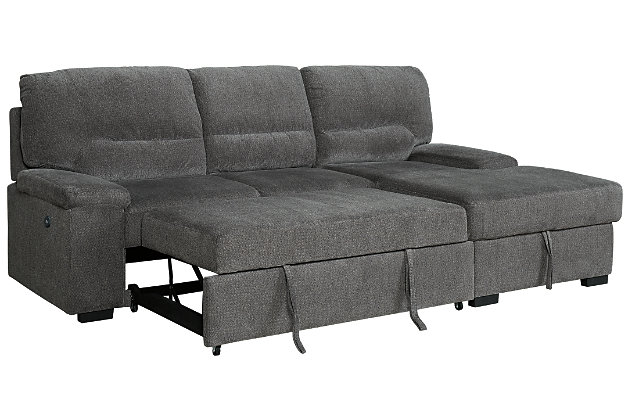 Yantis 2-Piece Sleeper Sectional with Storage, , large