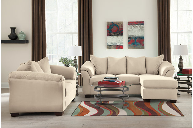 white sofa chaise and love seat with beautiful flared frame : loveseat chaise sofa - Sectionals, Sofas & Couches