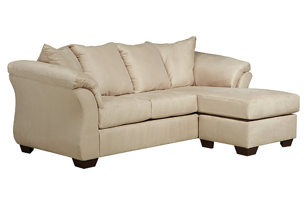 Darcy Sofa Chaise and Loveseat, Stone, large