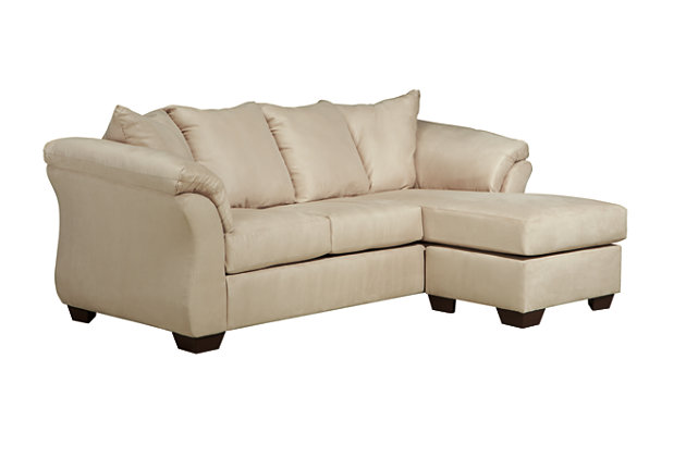 stone white sofa chaise with reversible cushion and padded flared arms  sc 1 st  Ashley Furniture HomeStore : chaise sofa chair - Sectionals, Sofas & Couches