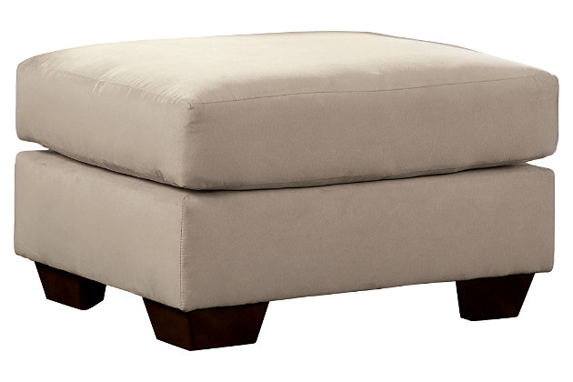 Darcy Ottoman by Ashley HomeStore, Tan, Polyester (100 %)