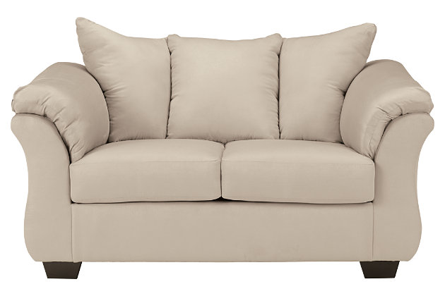 Product Shown On A White Background. Stone Darcy Sofa And Loveseat ...
