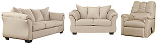Darcy Sofa, Loveseat and Recliner, Stone, large
