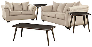 Darcy Sofa and Loveseat with Coffee Table and 2 End Tables, , large