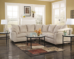 Darcy 2-Piece Sectional, Stone, large