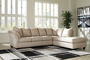 Darcy 2-Piece Sectional with Chaise, Stone, rollover