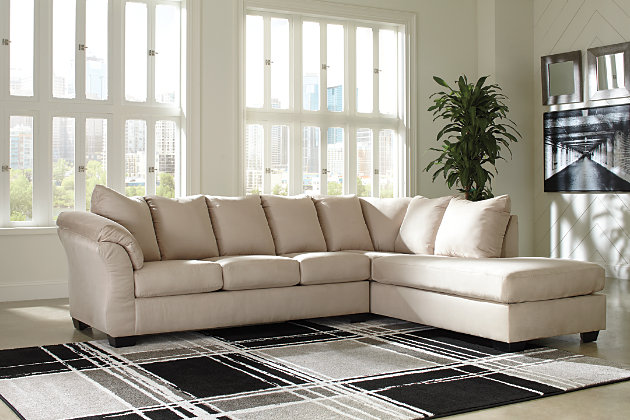 Darcy 2-Piece Sectional with Chaise, Stone, large