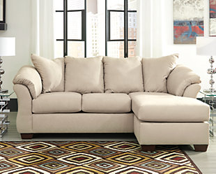 Darcy Sofa Chaise, Stone, large
