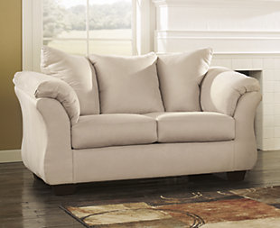 Darcy Loveseat, Stone, Large ...