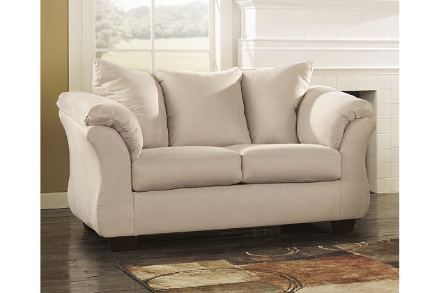 Attrayant Darcy Loveseat, Stone, Large ...