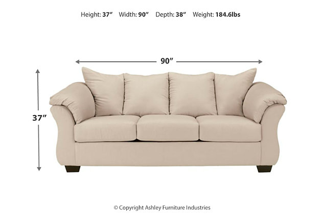 Darcy Full Sofa Sleeper, Stone, large