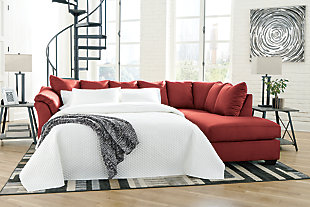 Darcy 2-Piece Sectional with Chaise and Sleeper, , rollover