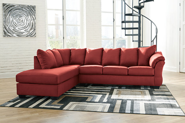 Darcy 2-Piece Sectional with Chaise and Sleeper, Salsa, large