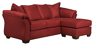 Darcy Sofa Chaise, Salsa, large