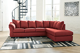 Darcy 2-Piece Sectional with Chaise, Salsa, large