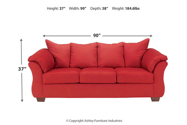 Darcy Full Sofa Sleeper, Salsa, large