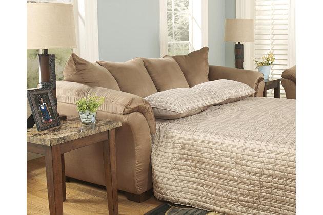 Darcy Full Sofa Sleeper, Mocha, large