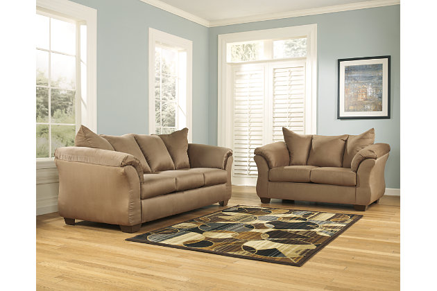 Darcy Sofa and Loveseat, Mocha, large