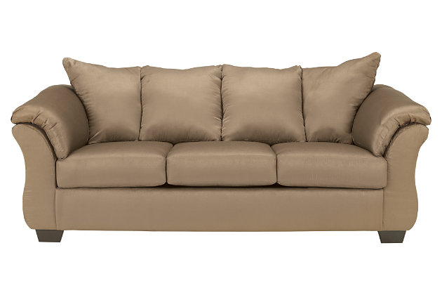 Darcy Full Sofa Sleeper by Ashley HomeStore, Tan, Polyester (100 %)