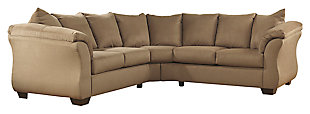 Darcy 2-Piece Sectional, Mocha, large