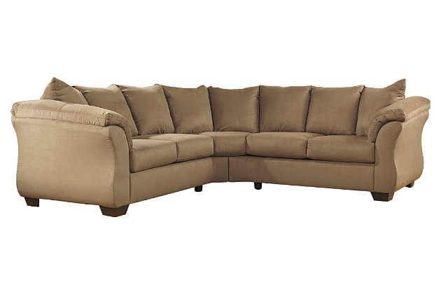 Darcy 2-Piece Sectional by Ashley HomeStore, Tan, Polyester (100 %)
