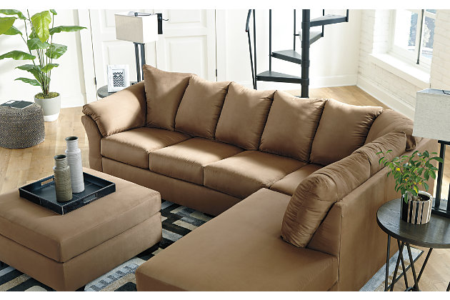 Darcy 2-Piece Sectional with Chaise, Mocha, large