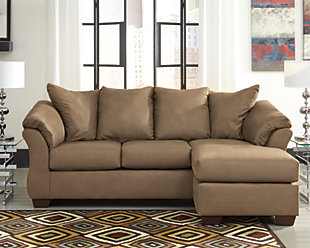 Darcy Sofa Chaise, Mocha, large