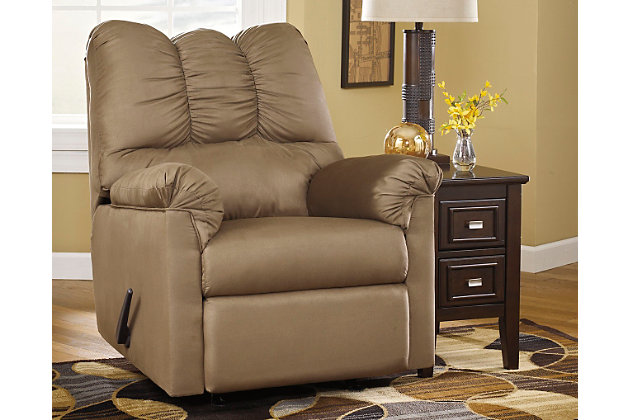 Darcy Recliner by Ashley HomeStore, Tan, Polyester (100 %)