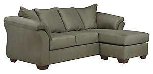 Darcy Sofa Chaise & Loveseat, Sage, large