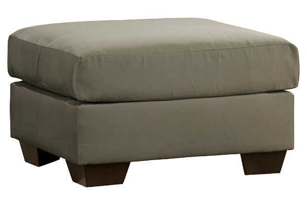 Darcy Ottoman by Ashley HomeStore, Green, Polyester (100 %)
